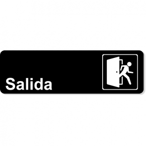 Spanish Exit Icon Sign