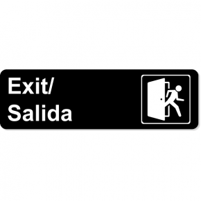 Bilingual Exit Icon Sign