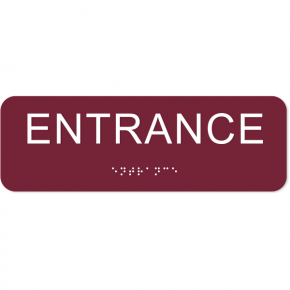 "Entrance ADA Sign with Braille | 2"" x 6"""