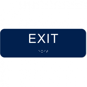 "Exit ADA Sign with Braille | 2"" x 6"""