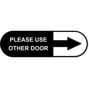 "Please Use Other Door Oval Contour Cut Decal  3"" x 10"""