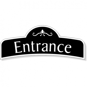 "Decorative Entrance Decal  3"" x 8"""
