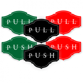 Push / Pull Victorian Decal Set