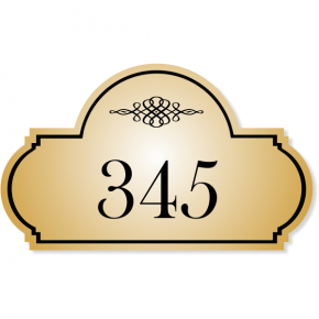 "Engraved Room Number Sign Triple Dome Shape | 3"" x 5"""