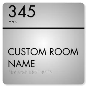 "Room Name and Number ADA Sign | 8"" x 8"""