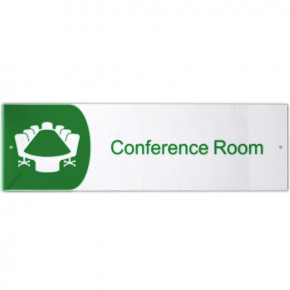 """Conference Room Icon Acrylic Print Sign - 3"""" x 10"""""""