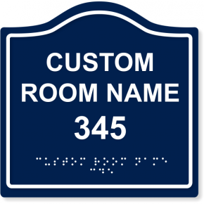 Custom Arch ADA Room Name with Border Sign