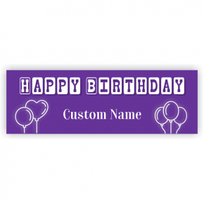 Baby Block Birthday Banner - 2' x 6'