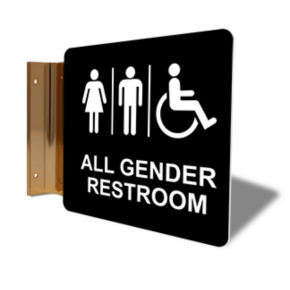 "All Gender Restroom Corridor Sign | 6"" x 6"""