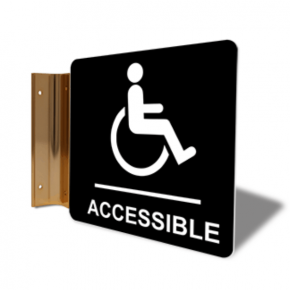 "Handicap Accessible Corridor Sign | 6"" x 6"""