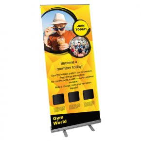 Retractable Economy Full Size Banner Stand