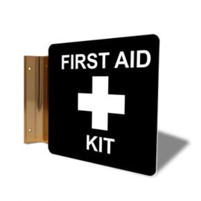 "First Aid Kit Corridor Sign | 6"" x 6"""