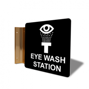 "Eye Wash Station Corridor Sign | 6"" x 6"""