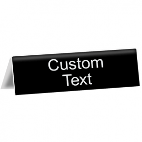 "Custom Text Tent Sign | 2"" x 8"""