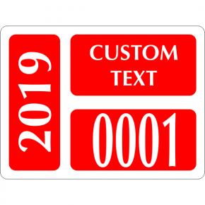 Clear Static Cling Parking Label | Design 101