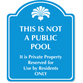 "Engraved Reserved for Residents Sign | 12"" x 10"""