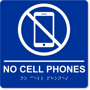 "No Cell Phones ADA Sign | 8"" x 8"""