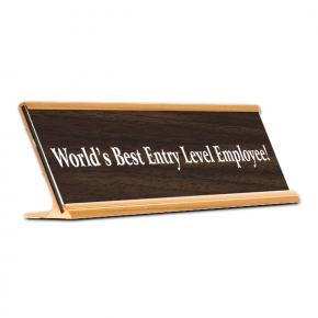 World's Best Entry Level Employee! Funny Name Plate