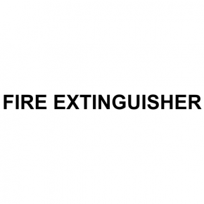"Horizontal Fire Extinguisher Cut Vinyl Decal | 1"" x 12"""