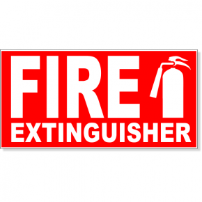 "Fire Extinguisher Engraved Plastic Sign | 4"" x 8"""