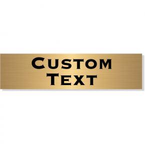 "Double Line Custom Text Brass Plate | 2"" x 8"""