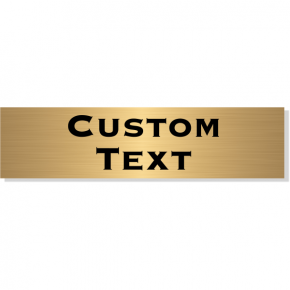 "Double Line Custom Text Brass Plate | 3"" x 12"""