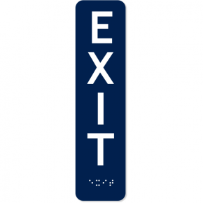 "Vertical Exit ADA Sign with Braille | 8"" x 2"""