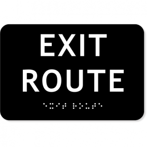 "ADA Exit Route Sign | 4"" x 6"""