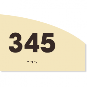 "ADA Curved Number Sign | 4"" x 6"""