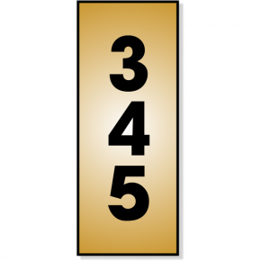 "Vertical Number Sign | 5"" x 2"""