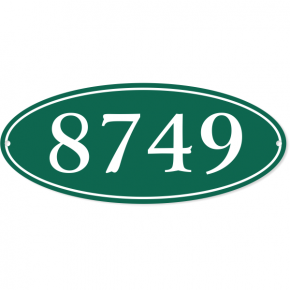 "Oval Border House Number Sign | 5"" x 12"""