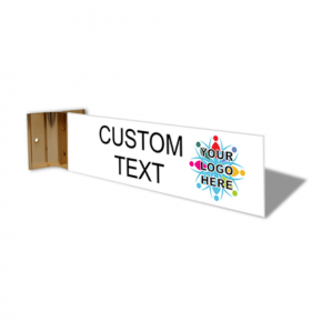 "Custom Text Full Color Corridor Sign | 2"" x 8"""