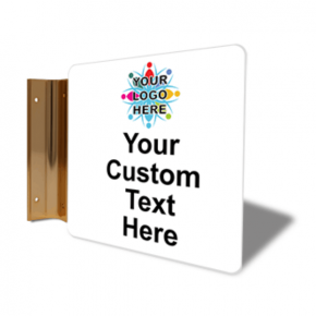 "Custom Text Full Color Corridor Sign | 6"" x 6"""