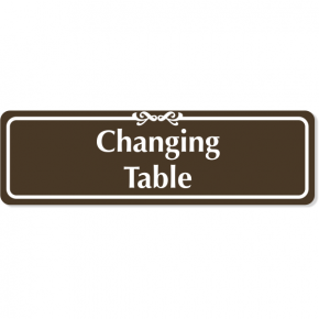 "Changing Table Engraved Plastic Sign | 3"" x 10"""