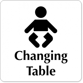 Changing Table Baby Icon Square Engraved Plastic Sign