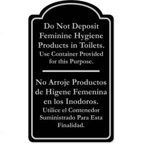 """Bilingual Do Not Deposit Products Engraved Plastic Sign 
