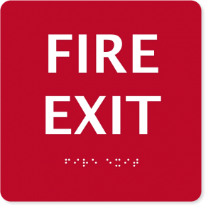 "ADA Fire Exit Sign | 6"" x 6"""