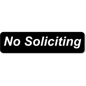 "No Soliciting Engraved Sign | 2"" x 8"""
