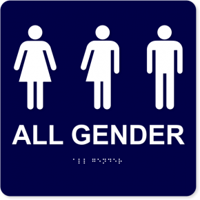 "All Gender with Icons - ADA Compliant | 10"" x 10"""