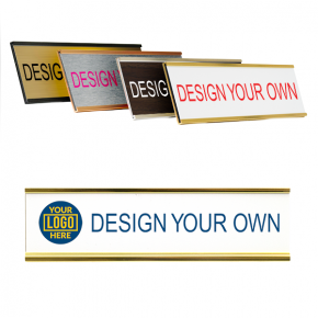 """Customizable Name Plates for Wall or Door - Full Color 2"""" x 8"""""""