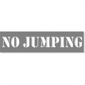 "3"" Letter No Jumping Stencil 