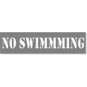 "3"" Letter No Swimming Stencil 