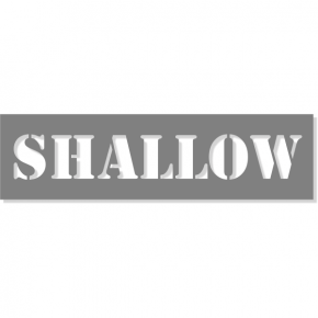 "3"" Letter Shallow Stencil 
