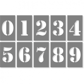 "3"" Number Stencil Pack"