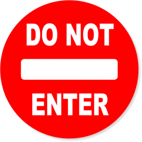 "6"" Round Red Do Not Enter Decal"