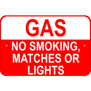 No Smoking Gas Sign