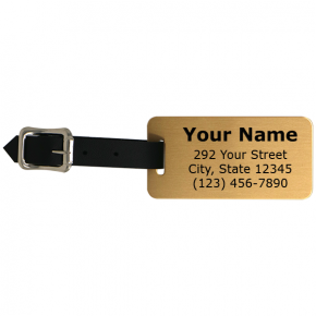 Gold Brass Luggage Tags