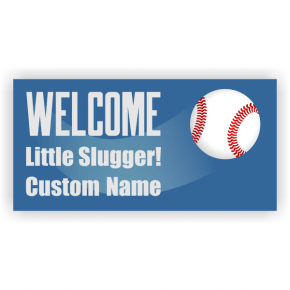 Baseball Baby Shower Banner - 3' x 6'