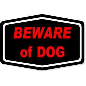 "Beware Of Dog Decal | 4"" x 6"""
