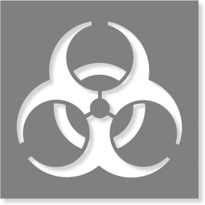Biohazard Stencil | Multiple Sizes